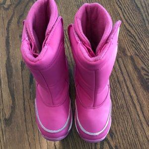Girls Sz 11 Lands End Snow Boots Excellent Shape